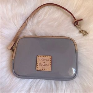 Like new condition grey and camel patent leather